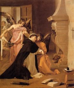 La tentación de Santo Tomás de Aquino. Diego Velázquez